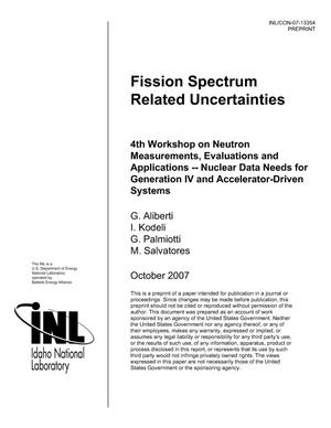 Primary view of object titled 'Fission Spectrum Related Uncertainties'.