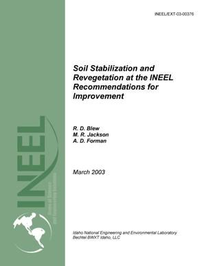 Primary view of object titled 'Soil Stabilization and Revegetation at the INEEL: Recommendations for Improvement - August 16, 2002'.