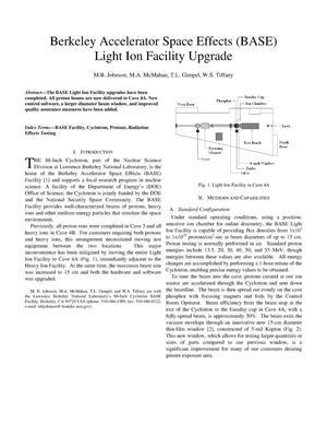 Primary view of object titled 'Berkeley Accelerator Space Effects (BASE) Light Ion FacilityUpgrade'.