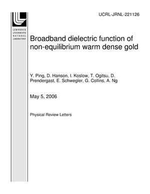 Primary view of object titled 'Broadband dielectric function of non-equilibrium warm dense gold'.