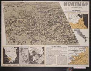 Primary view of object titled 'Newsmap. For the Armed Forces. 277th week of the war, 159th week of U.S. participation'.