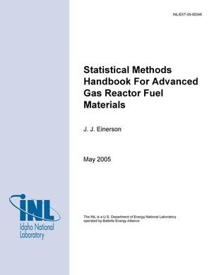 Primary view of object titled 'Statistical Methods Handbook for Advanced Gas Reactor Fuel Materials'.