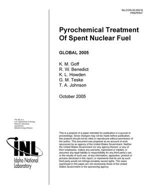 Primary view of object titled 'Pyrochemical Treatment of Spent Nuclear Fuel'.