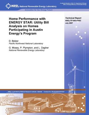 Primary view of object titled 'Home Performance with ENERGY STAR: Utility Bill Analysis on Homes Participating in Austin Energy's Program'.