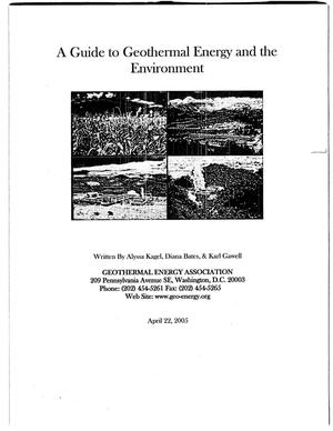 Primary view of object titled 'A guide to geothermal energy and the environment'.