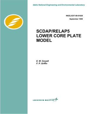 Primary view of object titled 'SCDAP/RELAP5 Lower Core Plate Model'.