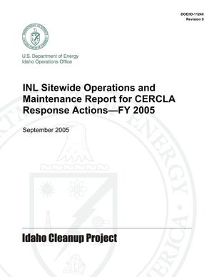 Primary view of object titled 'INL Sitewide Operations and Maintenance Report for CERCLA Response Actions - FY 2005'.