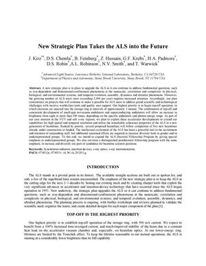 Primary view of object titled 'New Strategic Plan Takes the ALS into the Future'.