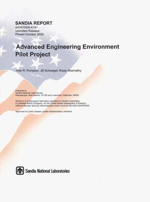 Primary view of object titled 'Advanced engineering environment pilot project.'.