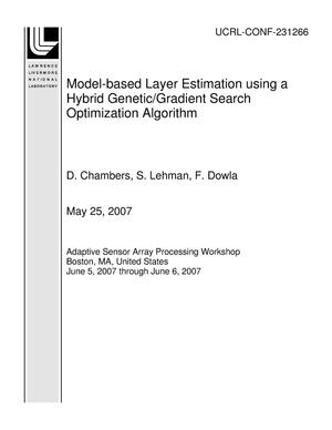 Primary view of object titled 'Model-based Layer Estimation using a Hybrid Genetic/Gradient Search Optimization Algorithm'.