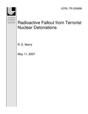 Primary view of object titled 'Radioactive Fallout from Terrorist Nuclear Detonations'.