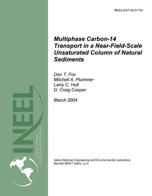 Primary view of object titled 'Multiphase Carbon-14 Transport in a Near-Field-Scale Unsaturated Column of Natural Sediments'.