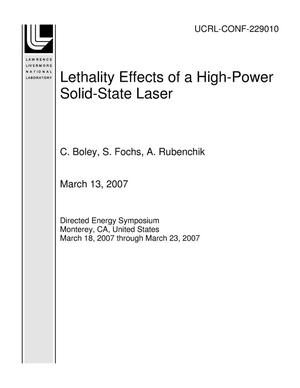 Primary view of object titled 'Lethality Effects of a High-Power Solid-State Laser'.