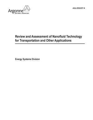 Primary view of object titled 'Review and assessment of nanofluid technology for transportation and other applications.'.