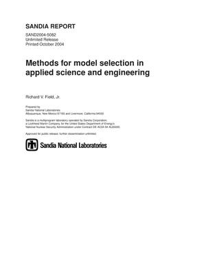 Primary view of object titled 'Methods for model selection in applied science and engineering.'.