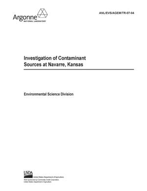 Primary view of object titled 'Investigation of contaminant sources at Navarre, Kansas.'.