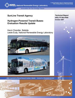 Primary view of object titled 'Sunline Transit Agency Hydrogen-Powered Transit Buses: Evaluation Results Update'.