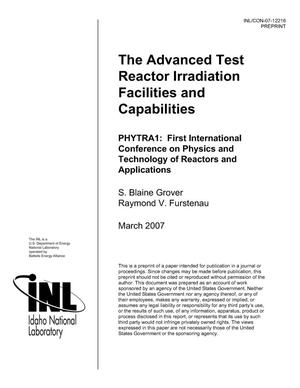 Primary view of object titled 'The Advanced Test Reactor Irradiation Facilities and Capabilities'.