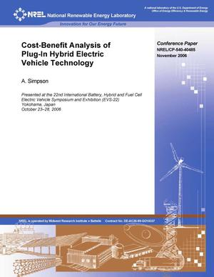 Primary view of object titled 'Cost-Benefit Analysis of Plug-in Hybrid Electric Vehicle Technology'.