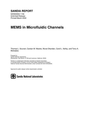 Primary view of object titled 'MEMS in microfluidic channels.'.