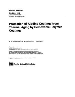 Primary view of object titled 'Protection of alodine coatings from thermal aging by removable polymer coatings.'.