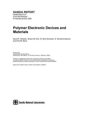 Primary view of object titled 'Polymer electronic devices and materials.'.