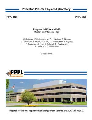 Primary view of object titled 'Progress In NCSX and QPS Design and Construction'.