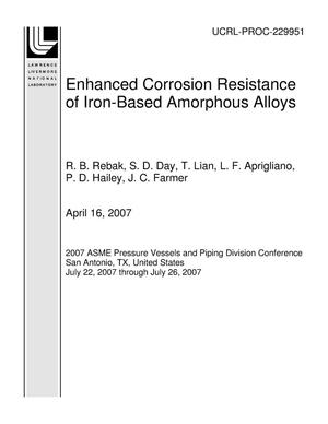 Primary view of object titled 'Enhanced Corrosion Resistance of Iron-Based Amorphous Alloys'.