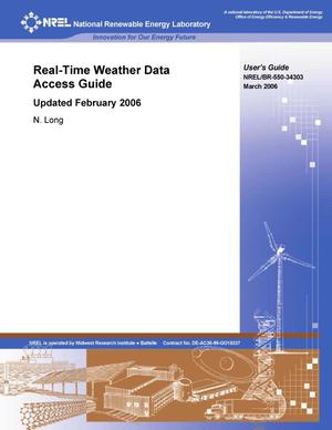 Primary view of object titled 'Real-Time Weather Data Access Guide: Updated February 2006'.