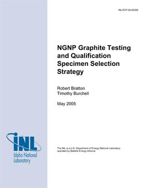 Primary view of object titled 'NGNP Graphite Testing and Qualification Specimen Selection Strategy'.