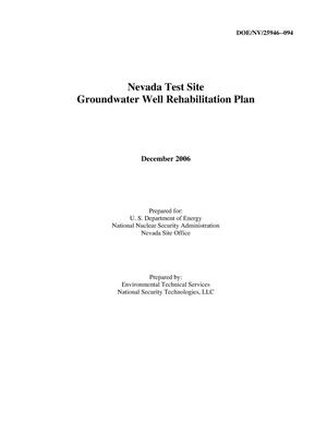 Primary view of object titled 'Nevada Test Site Groundwater Well Rehabilitation Plan'.