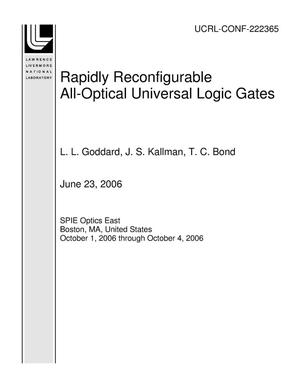 Primary view of object titled 'Rapidly Reconfigurable All-Optical Universal Logic Gates'.