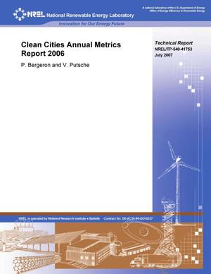 Primary view of object titled 'Clean Cities Annual Metrics Report 2006'.