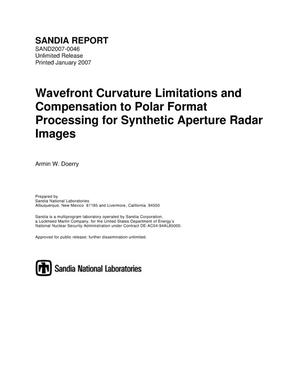 Primary view of object titled 'Wavefront curvature limitations and compensation to polar format processing for synthetic aperture radar images.'.
