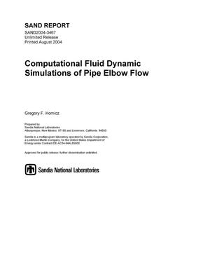 Primary view of object titled 'Computational Fluid Dynamic simulations of pipe elbow flow.'.