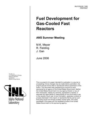 Primary view of object titled 'Fuel Development For Gas-Cooled Fast Reactors'.
