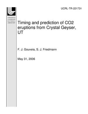 Primary view of object titled 'Timing and prediction of CO2 eruptions from Crystal Geyser, UT'.