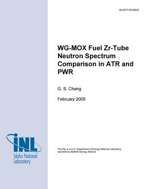 Primary view of object titled 'WG-MOX Fuel Zr-tube Neutron Spectrum Comparison in ATR and PWR'.