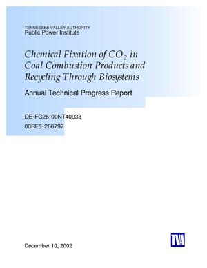 Primary view of object titled 'Chemical Fixation of CO2 in Coal Combustion Products and Recycling through Biosystems'.