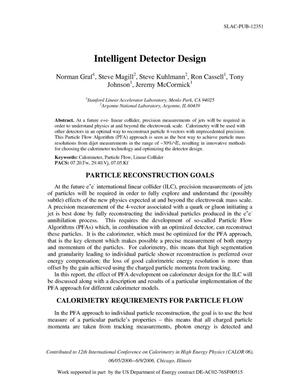 Primary view of object titled 'Intelligent Detector Design'.