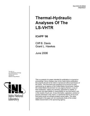 Primary view of object titled 'Thermal-Hydraulic Analyses Of The LS-VHTR'.