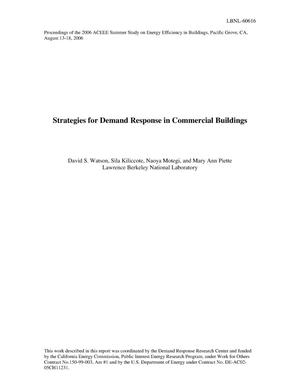 Primary view of object titled 'Strategies for Demand Response in Commercial Buildings'.