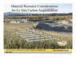 Primary view of object titled 'Material Resource Considerations for Ex Situ Carbon Sequestration'.