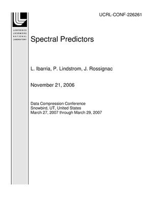 Primary view of object titled 'Spectral Predictors'.