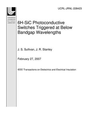 Primary view of object titled '6H-SiC Photoconductive Switches Triggered at Below Bandgap Wavelengths'.