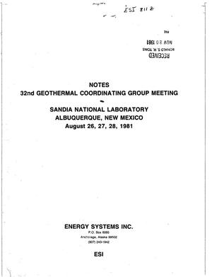 Primary view of object titled '32nd Geothermal Coordinating Group Meeting Notes'.
