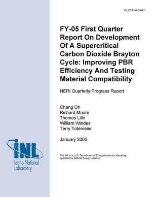 Primary view of object titled 'FY-05 First Quarter Report on Development of a Supercritical Carbon Dioxide Brayton Cycle: Improving PBR Efficiency and Testing Material Compatibility'.