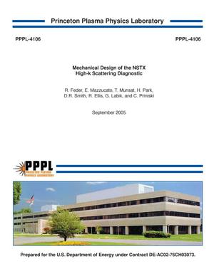 Primary view of object titled 'Mechanical Design of the NSTX High-k Scattering Diagnostic'.