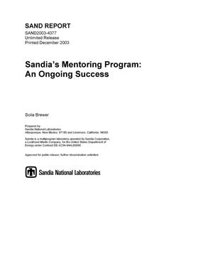 Primary view of object titled 'Sandia's mentoring program : an ongoing success.'.