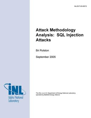 Primary view of object titled 'Attack methodology Analysis: SQL Injection Attacks and Their Applicability to Control Systems'.